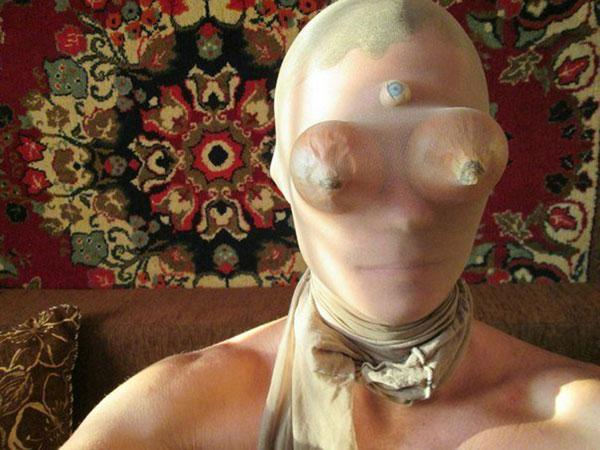 чулок с луковицами на голове