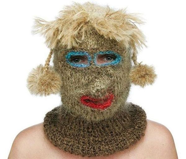 меховая маска на лицо